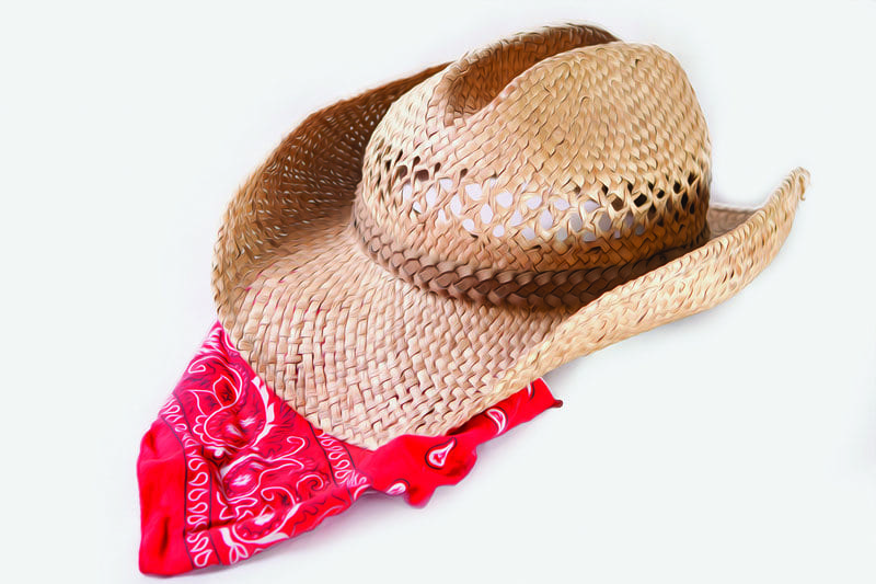 Gunflint Lodge Red Neck Weekend Cowboy hat and bandana