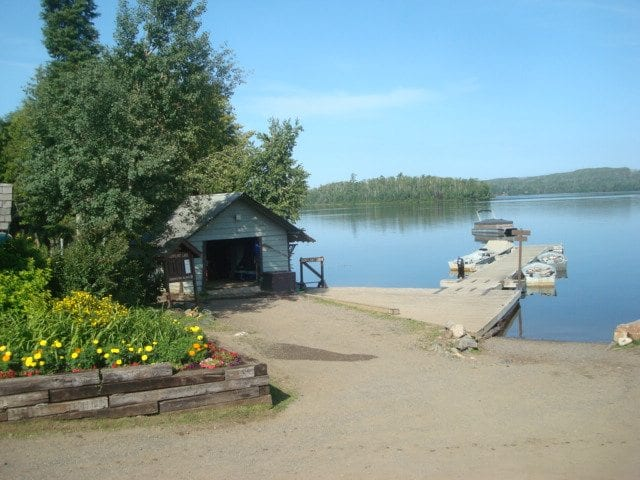 Gunflint Lodge Mother's Day Opening weekend dock house and guides dock