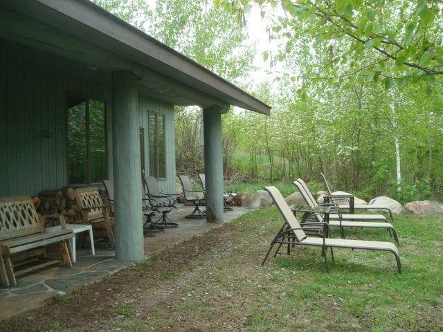 Gunflint Lodge Pow Wow lake side porch
