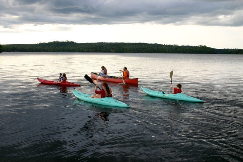Gunflint Lodge family canoing and kayaking 2