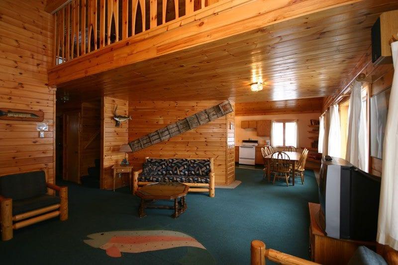Gunflint Lodge Lake home living room