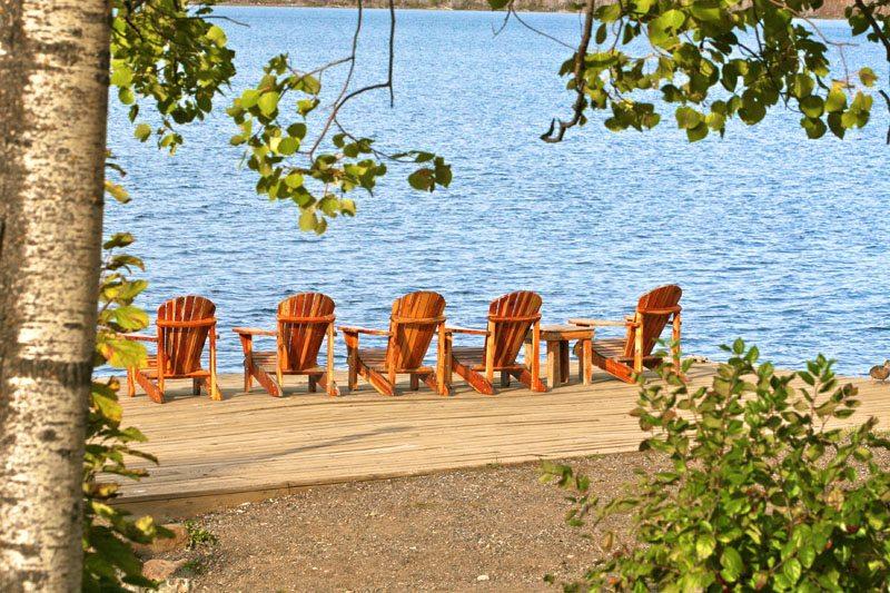 Gunflint Lodge dock-chair scene