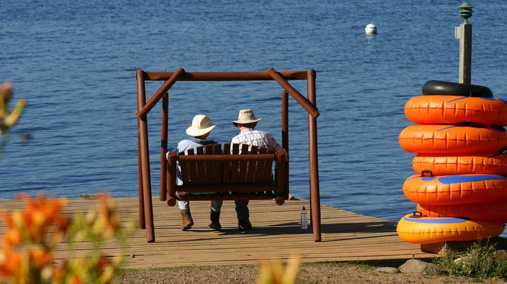 Gunflint Lodge Couple By Lake Anniversary